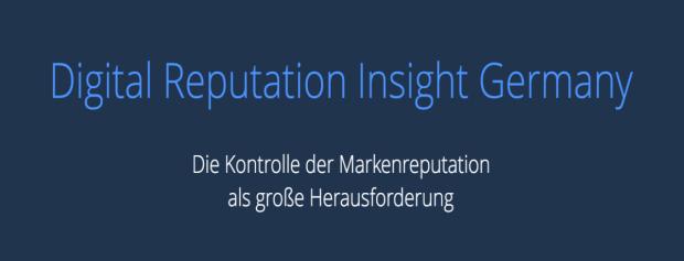 Veröffentlichung der Studie Digital Reputation Insight Germany