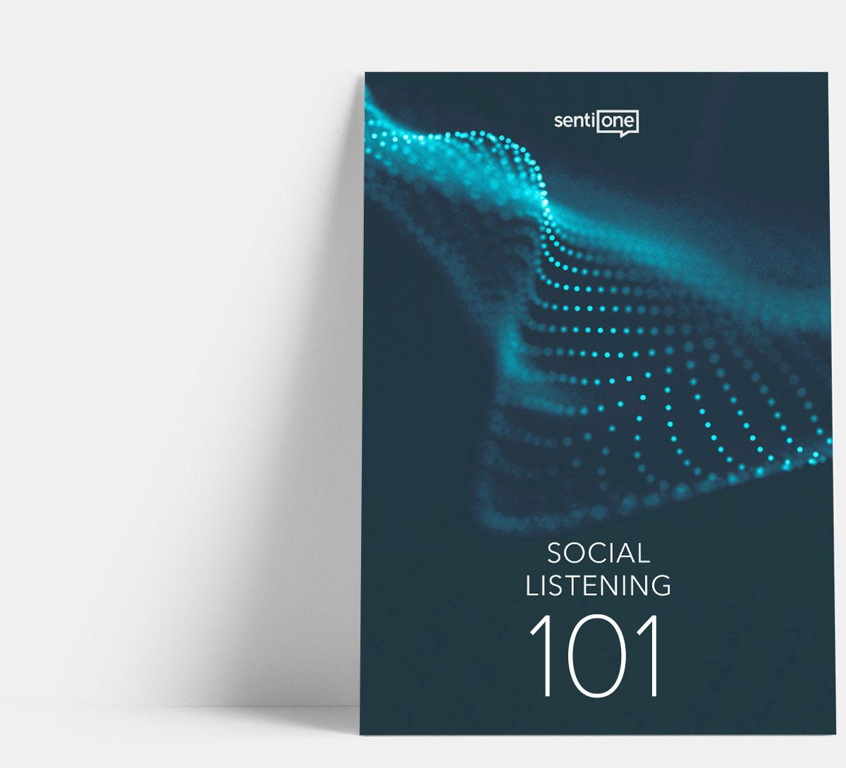 Titulní strana příručky Social listening 101