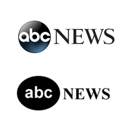 ABC News logo and fake ABC News logo
