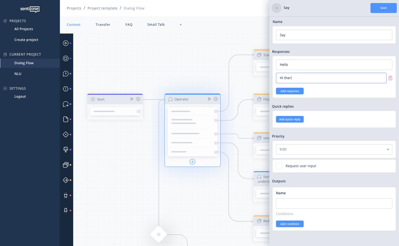 conversational ai platform dialog flow configurator 1x