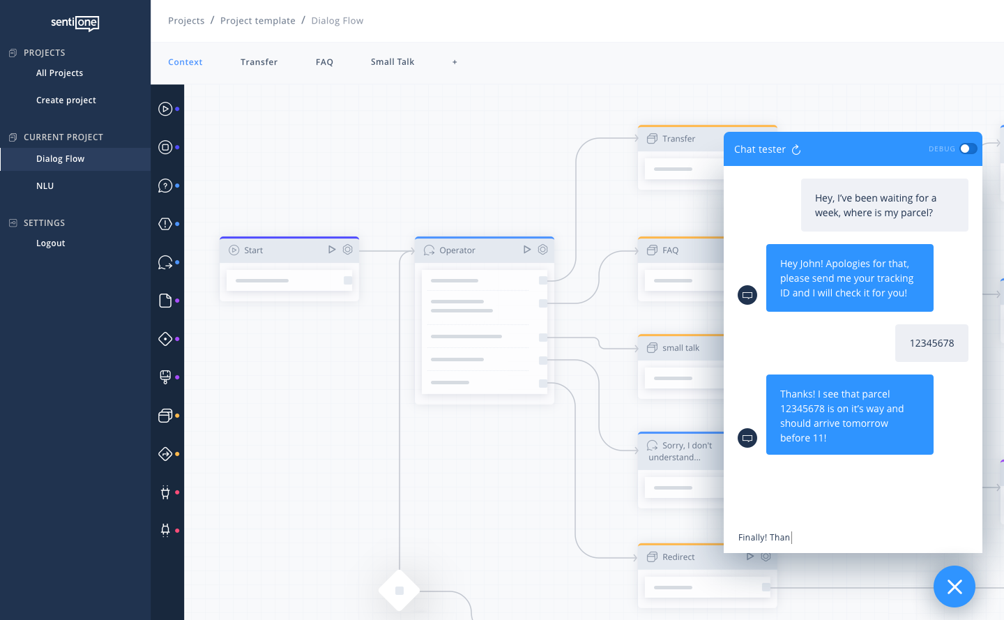 customer care automation tool dialog flow chat 1x