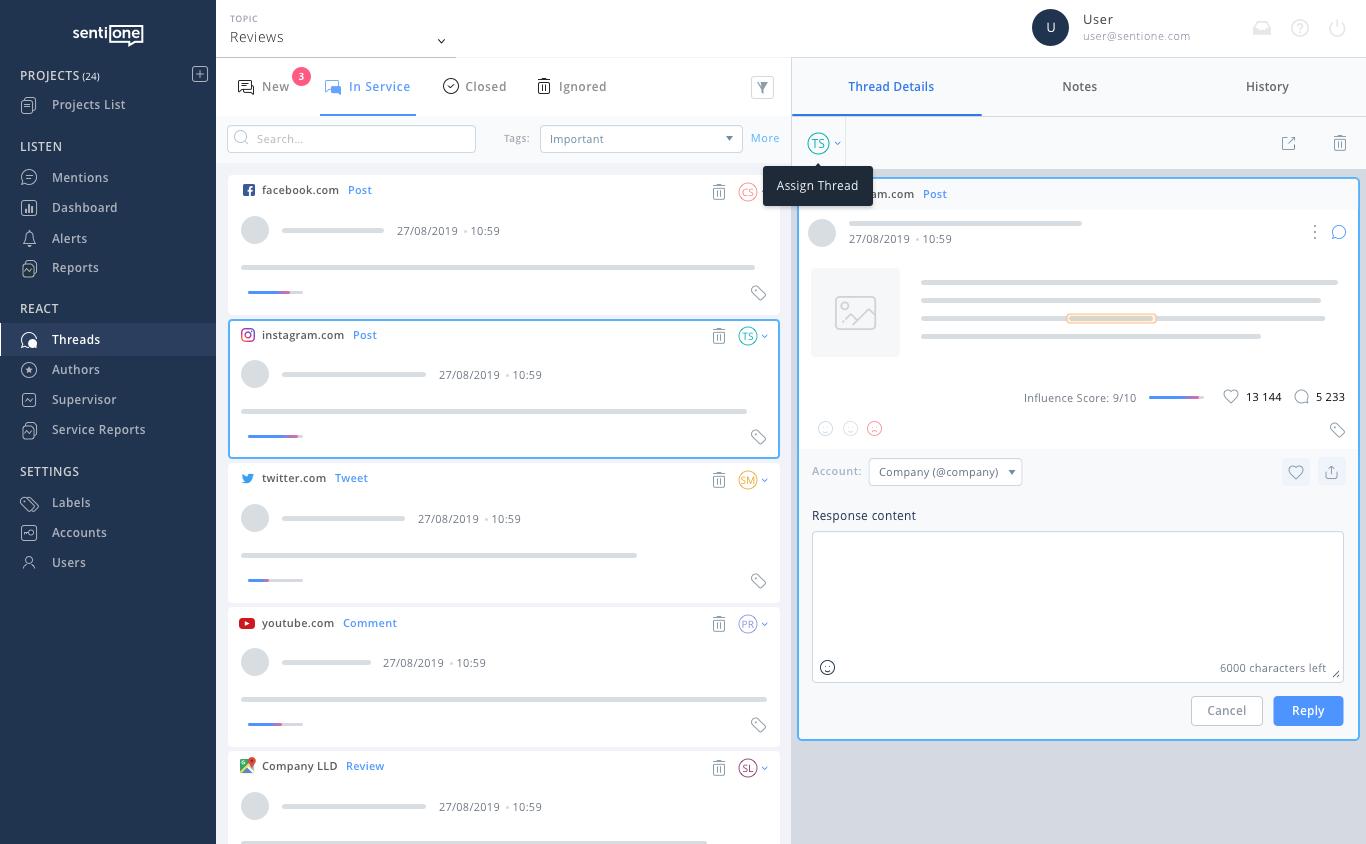 customer service automation platform response panel assign 1x
