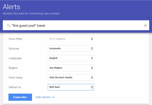 Google Alerts is a good starting point for online reputation management.